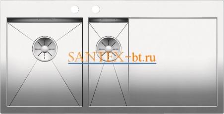 Мойка BLANCO ZEROX 6S-IF/А с клапаном-автоматом, чаша слева, нержавеющая сталь зеркальная полировка