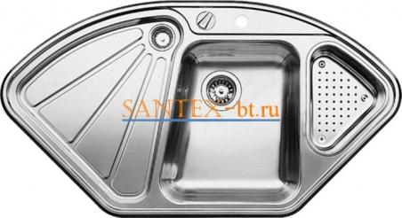 Мойка BLANCO DELTA-IF с клапаном-автоматом нержавеющая сталь зеркальная полировка