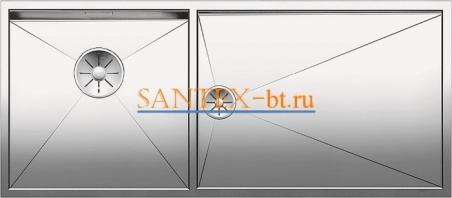 Мойка BLANCO ZEROX 400/550-T-U чаша слева, нержавеющая сталь зеркальная полировка