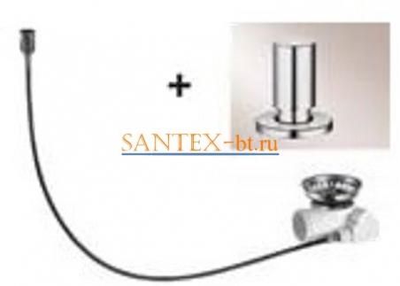 Набор доукомплектации клапаном-автоматом BLANCO с круглой ручкой нержавеющая сталь зеркальная полировка 517545